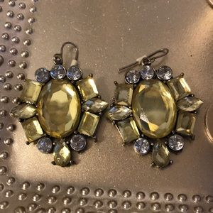 Jewelry - White and yellow crystal earrings